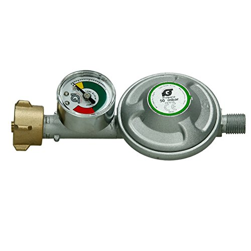 ecd germany 50 mbar druckminderer mit manometer gasdruckregler - ECD Germany 50 mbar Druckminderer mit Manometer Gasdruckregler