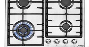 Phoenix PS 603T Einbau Gaskochfeld Edelstahl Gaskocher 4 Kochplatten Propan Erdgas 310x165 - Phönix PS-603T Einbau Gaskochfeld Edelstahl Gaskocher 4 Kochplatten Propan-/ Erdgas inkl. Gasschlauch-Regler Set für Propangasflaschen + Guss WOK Aufsatz + Herdkreuz